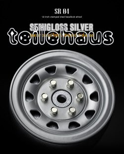 "Beadlock Steel Rims ""SR04"" 1.9"", Silver (2 mm Offset)"