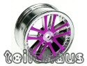 24 mm chromed 5 Dual Spoke Rims, Purple For Touring Cars