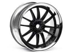 "Chromed rims ""Work XSA 02 C"", black for touring cars (3mm)"