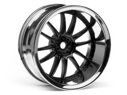 "Chromed rims ""Work XSA 02 C"", black for touring cars (9mm)"