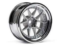 "Chromed Rims ""DY-Champion"", Silver for Touring Cars (9mm Offs.)"