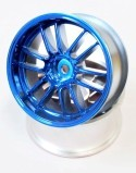 "Chromed Rims ""Ultimate GL"", Blue For Touring Cars (3 mm Offset)"