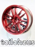 "Chromed Rims ""Ultimate GL"", Red For Touring Cars (7 mm Offset)"