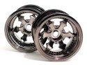"Chromed rims ""Spike"" black, for Monster/Stadium Trucks"