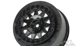 "Rims ""F-11"", Black, for Short Course Trucks (3 mm Offset)"