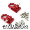 Heavy Duty Shackle with Mounting Bracket, Red