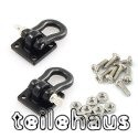 Heavy Duty Shackle with Mounting Bracket, Black