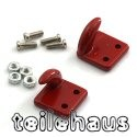Aluminium Bolt-on Hooks, Red