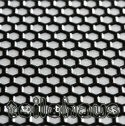 3D Grill Decal, Silver, Block Honeycomb
