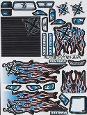 "Decals for Monster Trucks ""Ignite"", blue"