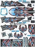 "Decals for Buggies ""Ignite"", blue"