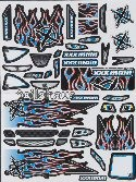"Decals for Touring Cars ""Ignite"", blue"