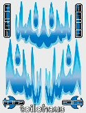"Decal ""Fuego - blue"""