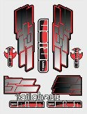 "Decal ""F-N-F - red/black"""