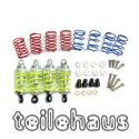 Alloy 50mm Damper Set, Silver For 1:10 Touring Cars