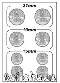 3D Headlight Lens Decal, Round TYPE-A (21/19/15 mm)