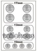 3D Headlight Lens Decal, Round TYPE-A (17/13/10 mm)