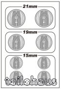 3D Headlight Lens Decal, Round TYPE-B (21/19/15 mm)