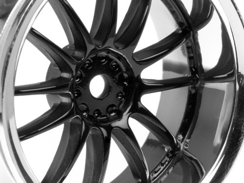 "Chromed rims ""Work XSA 02 C"", black for touring cars (6mm) - Click Image to Close"