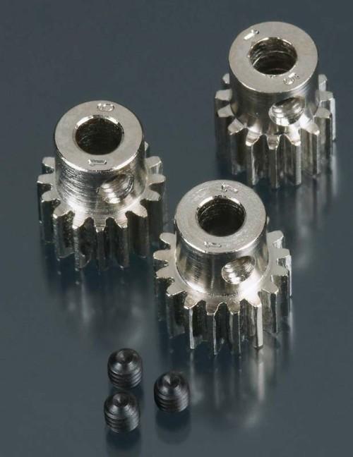 5mm 32-Pitch Steel Pinion Gear 3-Pack (15T/16T/17TT)