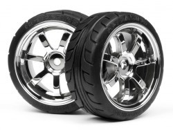 T-Grip Tire on Rays 57S-Pro Chrome Rim