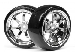 T-Drift Tire on Rays 57S-Pro Chrome Rim
