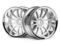 "Chromed rims ""Work XSA 02 C"", white for touring cars (9mm)"