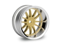 "Chromed rims ""Work XSA 02 C"", gold for touring cars (9mm)"