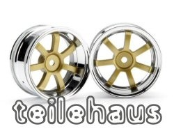 "Chromed rims ""Rays Gram Lights 57"", gold (6mm offset)"