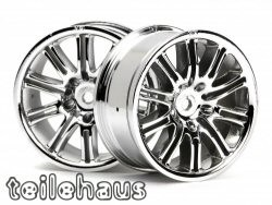 Chromed 10 Spoke Motor Sport Rims for touring cars