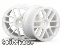 6 spoke split rims white, for touring cars