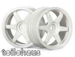 "Rims ""TE37"" white, for touring cars (3 mm offset)"