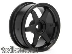 "Rims ""TE37"" black, for touring cars (3 mm offset)"
