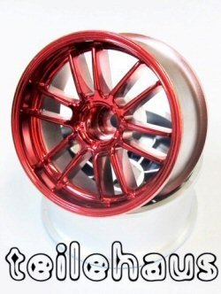 "Chromed Rims ""Ultimate GL"", Red For Touring Cars (9 mm Offset)"