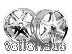 "Chromed rims ""Work LS406"", 29 mm for touring cars (3mm offset)"