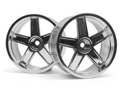 "Chromed rims ""MF Type"", 35 mm for touring cars (9 mm Offset)"
