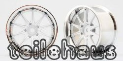 "Chromed Rims ""Rays Volk Racing GTF"", White for Touring Cars (4 m"