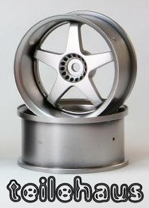 "Rims ""Slide Master"", Silver for Touring Cars (+6 mm)"