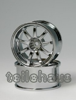 "Chromed Rims ""Slide Master D9"" for Touring Cars (+10 mm)"