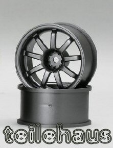 "Rims ""Slide Master D9"", Gun Metal for Touring Cars (+10 mm)"