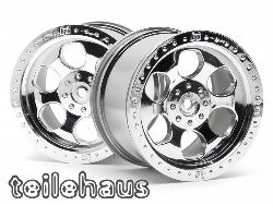 Chromed 6 spoke rims for Monster Trucks