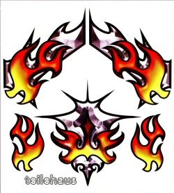 "Decal ""Chromal Blaze"""