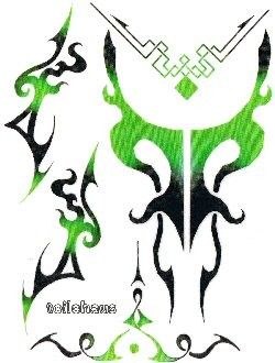 "Decal ""Green Tribal"""