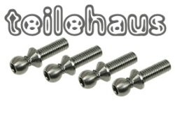 Titanium Ball Stud 4.3×15 mm